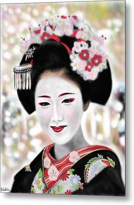 Geisha No.168 Metal Print