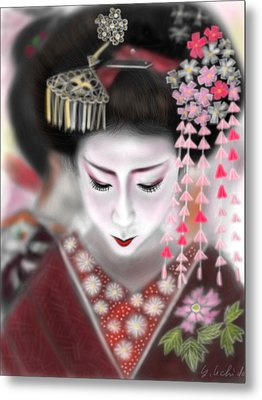 Geisha No.2 Metal Print