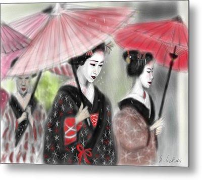 Geisha No.3 Metal Print