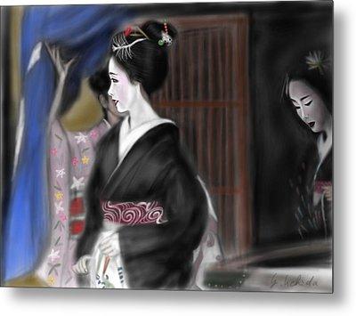 Geisha No.4 Metal Print