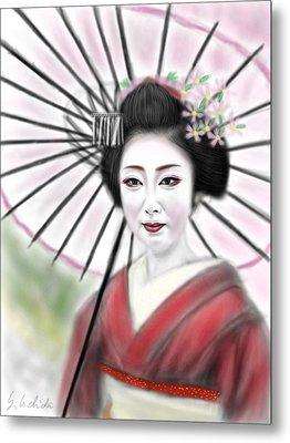 Geisha No.8 Metal Print
