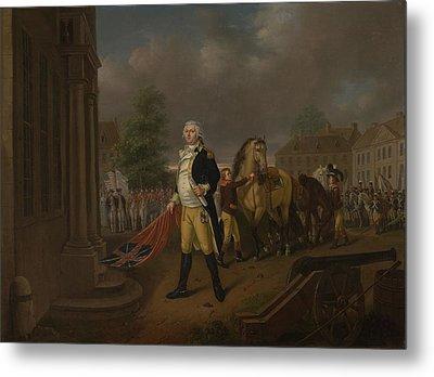 General Humphreys Delivering Metal Print by Nicolas Louis Albert Delerive