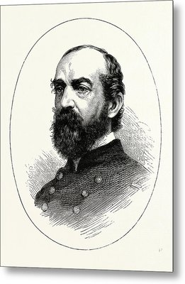 General Meade, He Was A Career United States Army Officer Metal Print