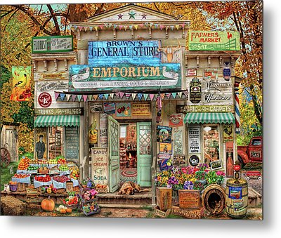 Metal Print featuring the drawing General Store by Aimee Stewart