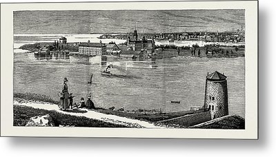 General View Of Wolfe Island, British Naval Defences Metal Print by Litz Collection