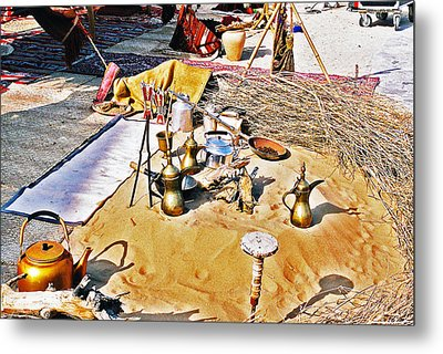 Metal Print featuring the photograph Genie Sandpit by Cassandra Buckley