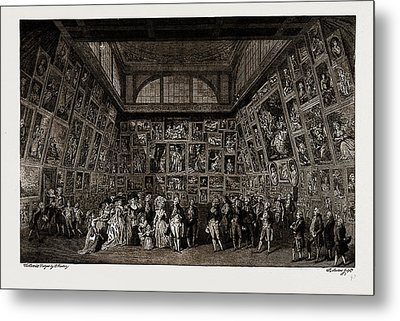 George IIi. And The Royal Family At The Private View Metal Print