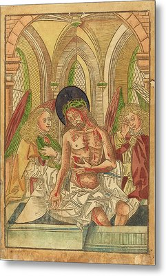 German 15th Century, Christ In The Tomb With Two Angels Metal Print