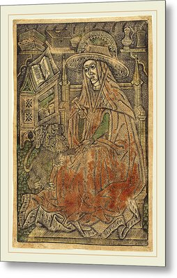 German 15th Century Or Master Of The Aachen Madonna, Saint Metal Print by Litz Collection