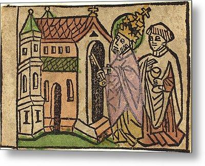 German 15th Century, Saint Peter As Founder Of The Church Metal Print