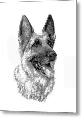 German Shepherd Metal Print by Lou Ortiz