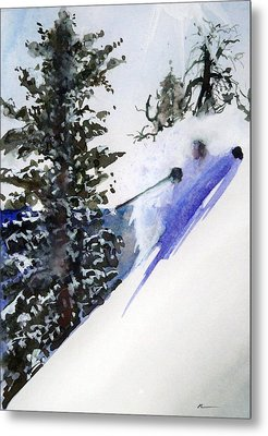 Metal Print featuring the painting Ghost Of Tahoe Past by Ed  Heaton