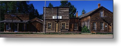 Ghost Town Nevada City Mt Metal Print by Panoramic Images