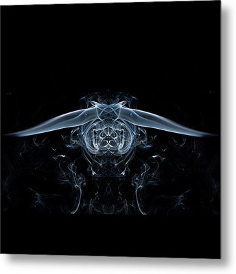 Ghostly Owl Metal Print by Steve Purnell