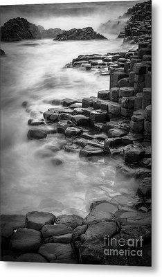 Giant's Causeway Waves  Metal Print by Inge Johnsson