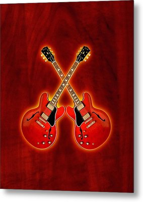 Gibson Es 335 Metal Print by Doron Mafdoos