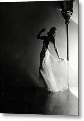 Ginger Rogers Wearing An Evening Gown Metal Print by Horst P. Horst