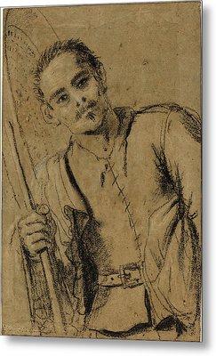 Giovanni Francesco Barbieri, Called Guercino Metal Print by Litz Collection