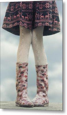 Girl With Wellies Metal Print by Joana Kruse