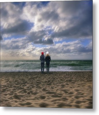 Girls On The Beach Metal Print by Joana Kruse