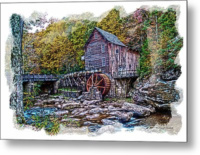 Glade Creek Grist Mill Metal Print by Randall Branham