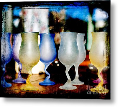 Glassware Metal Print by Bobbi Feasel
