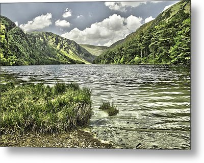 Glendalough Upper Lake Metal Print by Martina Fagan