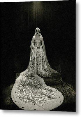 Gloria Swanson Wearing A Costume Metal Print by Edward Steichen