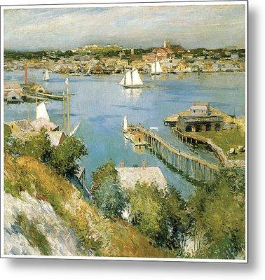 Gloucester Harbour Metal Print by William Leroy Metcalf