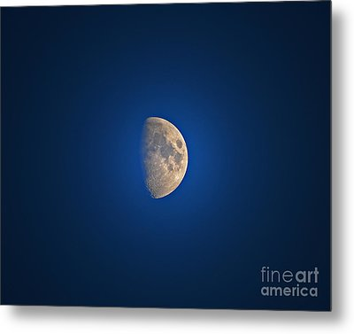 Glowing Gibbous Metal Print by Al Powell Photography USA