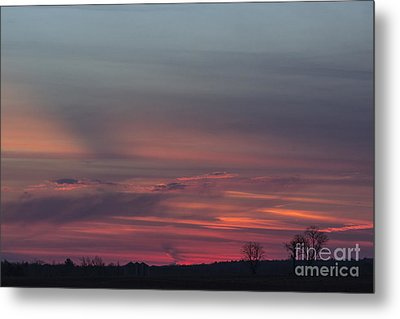 Glowing Plains Metal Print