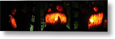 Metal Print featuring the sculpture Going Up Pumpkin by Shawn Dall
