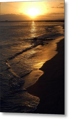 Golden Beach Metal Print by Yue Wang