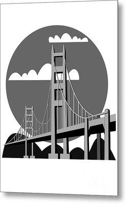 Golden Gate Bridge - Vector Metal Print