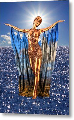Golden Goddess Metal Print