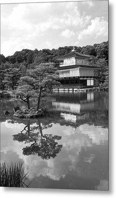 Golden Pagoda In Kyoto Japan Metal Print by David Smith