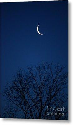 Good Morning Moon Metal Print by Jay Nodianos