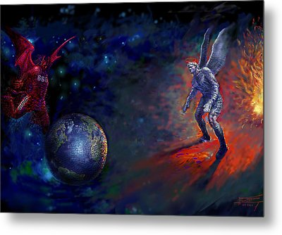 Good Vs Evil Metal Print by Ylli Haruni
