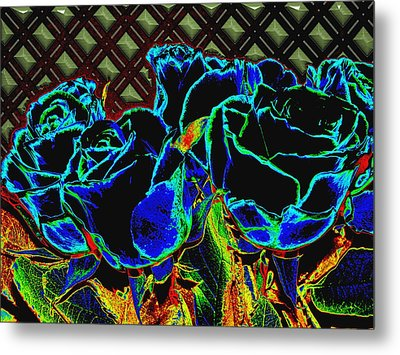 Goodnight Rose Metal Print by Wendy J St Christopher