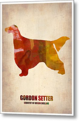 Gordon Setter Poster 1 Metal Print by Naxart Studio