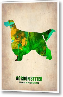 Gordon Setter Poster 2 Metal Print by Naxart Studio