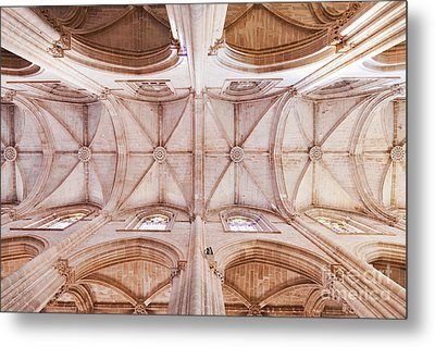 Gothic Ceiling Of The Batalha Monastery Church Metal Print by Jose Elias - Sofia Pereira