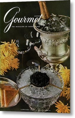 Gourmet Cover Featuring A Wine Cooler Metal Print