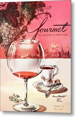 Gourmet Cover Illustration Of A Baccarat Balloon Metal Print by Henry Stahlhut