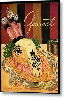 Gourmet Cover Illustration Of Langue De Boeuf Metal Print