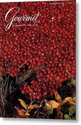 Gourmet Magazine Cover Featuring Cranberries Metal Print