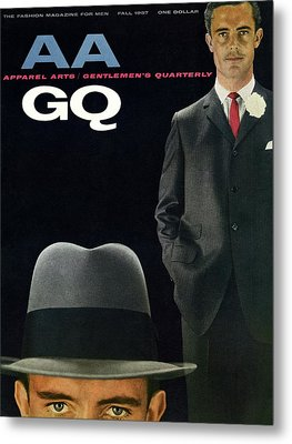 Gq And Aa Cover Of A Montage Of A Male Model Metal Print