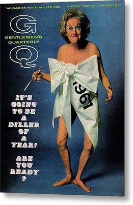Gq Cover Featuring Comedienne Phyllis Diller Metal Print