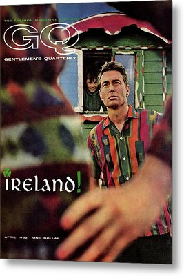 Gq Cover Of Model In Ireland Metal Print