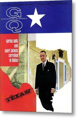 Gq Cover Of President Lyndon B. Johnson Metal Print
